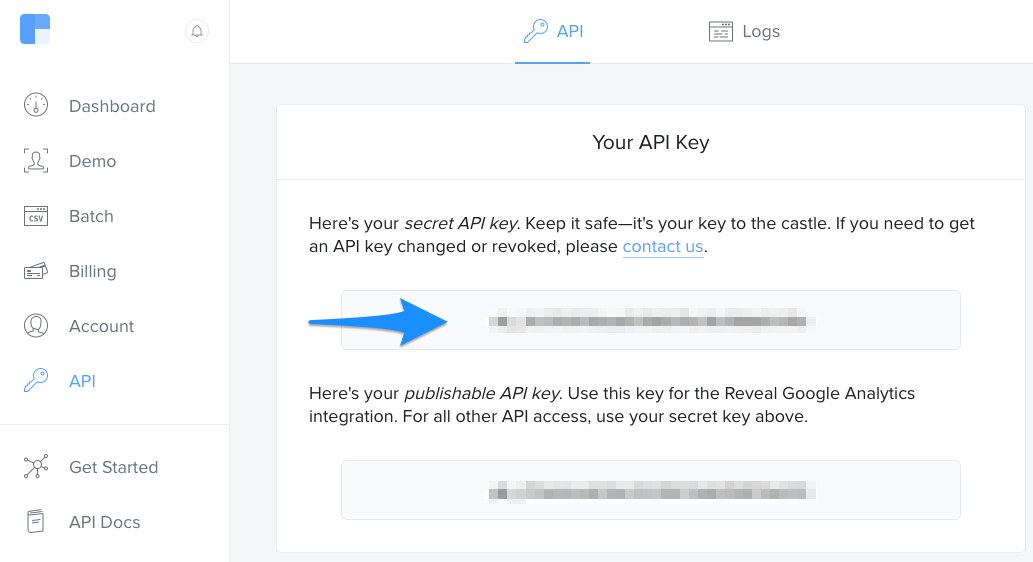 Find your Clearbit API Key